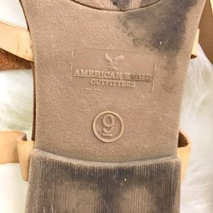 American Eagle Outfitters Shoes - American Eagle Strappy Thong Sandals Size 9 Tan